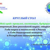 В День российской науки в Музее Салавата Юлаева прошёл круглый стол «Мой край: прошлое, настоящее, будущее»